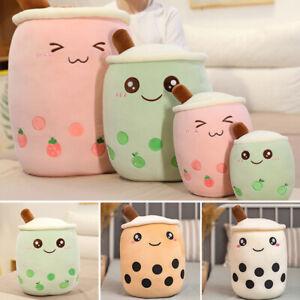 Creative Milk Tea Boba Bubble Tea Plush Stuffed Soft Toy Doll Hugging Pillow HOT