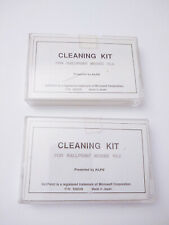 2 Alps Vintage Computer PC Mouse Cleaning Kits; Swabs & Fluid Bottle in Case