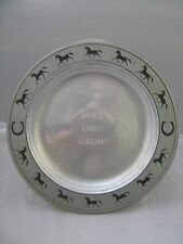 Pewter Plate Horses on Rim Engraved Horse Show NCWH Ladies Auxillary 10 1/2""
