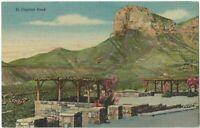 El Capitan Peak El Paso Texas Vintage Postcard Tx Linen