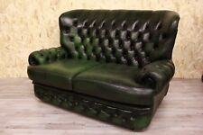 Divano chesterfield chester inglese 2 posti colore verde firmato Thomas Lloyd