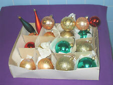 VINTAGE RETRO 18 GLASS CHRISTMAS TREE BAUBLES