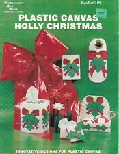 Holly Christmas in plastic canvas pattern booklet