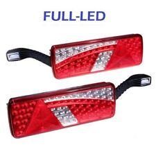 2x Fanale Posteriore Full-LED per Rimorchio con luce ingombro 12V/24V Omologato