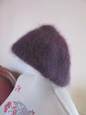 Joli bonnet femme ANGORA et laine vintage à saisir