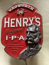 Wadworth's Henry's IPA pump Clip breweriana