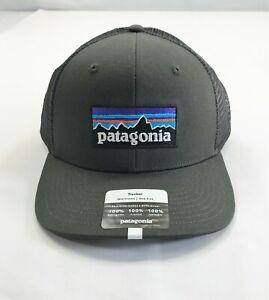 PATAGONIA P-6 Logo Trucker Hat #38289 FORGE GREY (FGE)