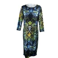 TopShop 8 Womens Snake Print Dress Stretch Party Business Casual