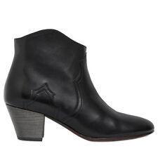 Isabel Marant Dicker Boots in Black Calf Leather Size FR 38.5  38 1/2