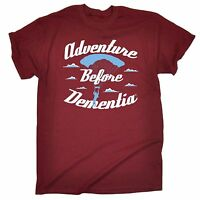 Adventure Before Dementia Parachute T-SHIRT Tee Skydiving Funny Gift Birthday