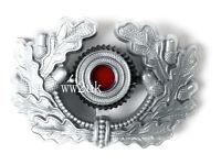 WW2 GERMAN VISOR CAP BADGE SILVER ARMY PANZER UNIFORM WREATH COCKADE-38029