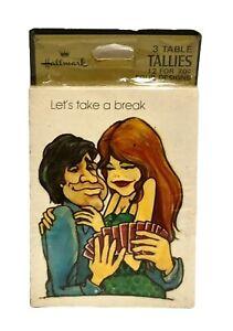 Vintage Hallmark Bridge Tallies Retro Lovers Let's Take a Break