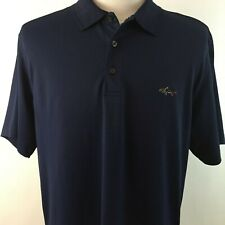 Greg Norman Tasso Elba  Large Golf Shirt Play Dry Technology Polyester Navy