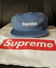 Supreme Wool Camp Cap SLATE Blue FW17 Box Logo IN HAND SOLD OUT NEW NWT