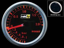 "Ladedruckanzeige Instrument 2"" RAID Night Flight Rot Turbodruck Boost Amber Gaug"