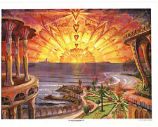 """Visionary Art """"The Dawn of the Aquarian Age"""" 1968 Litho by Joseph Parker"""