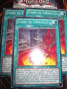 YU-GI-OH! COM USINE DE FERRAILLE PRIO-FR066 (PLAYSET) 3 CARTES MINT NEUF ED 1