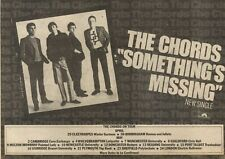 26/4/80PN20 Advert: The Chords Single somethings Missing And Tour 7x11