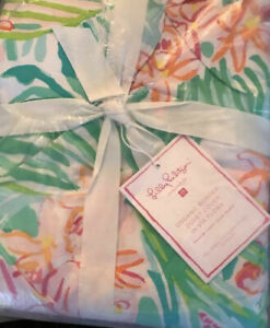 Pottery Barn Teen Lilly Pulitzer Orchid Border Duvet Cover Full/Queen