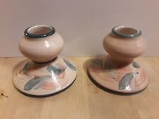 Jersey  Pottery pair of Candle  Holders