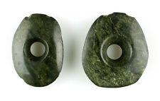 Large Pair Of Ancient Mayan Ear Spools