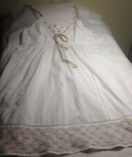 Robe de plage , blanc/beige ETAM T 40 en coton , fines bretelles réglables