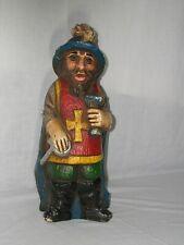 Vintage Carved Wooden Knights Templar (?) Wine Bottle Holder