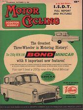 Motor Cycling October 12 1961 Bond Minicar, Villiers, ISDT 071717DBE