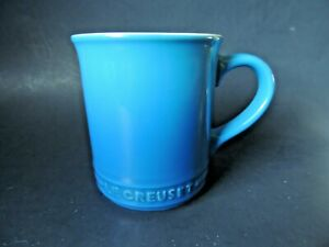 Le Creuset Stoneware Coffee Mug Cup Marseille Blue Ombré 12 Oz