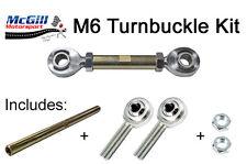 More details for m6 turnbuckle kit adjustment 100mm upwards + lock nuts - choose rod ends to suit