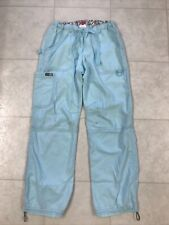 Koi Lindsey Cargo Scrub Pants Blue Sz Small