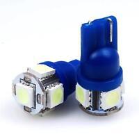 2 X Blue T10 LED Light Bulbs  W5W 194 168 501 Dash Park Interior Number Plate