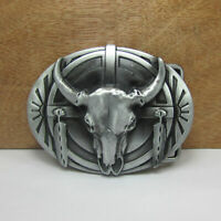 "Men/'s Western Moto Punk Cowboy en Alliage Cuir Boucle De Ceinture /""Skull/"" #03037"