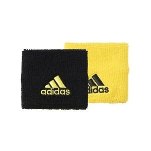 NEW Adidas Wristbands Black/Bright  Tennis DOUBLEWIDE CE8189