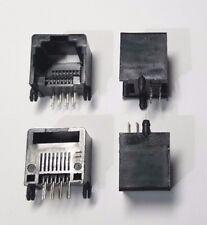 RJ45 Network Jack socket - Black x 4 (2 pairs) 8P Unshielded - Small Base Mount
