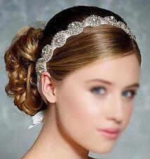 Voll Strass Haarschmuck Kopfband Haarreif Haarband für Braut Sschwarz 3cm