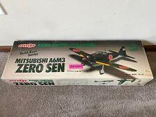 Pilot Mitsubishi A6M3 Japanese Zero Balsa Wood RC Remote Control Airplane Kit