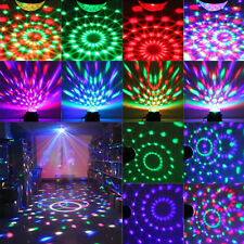 RGB LED MP3 DJ Club Disco Party Crystal Magic Ball Stage Laser Xmas Light CA