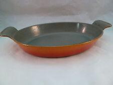 Vintage Le Creuset 26 Oval Au Gratin Baking Dish Flame Orange France Enamel Iron