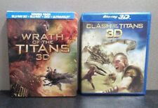Wrath of the Titans & Clash of the Titans (DVD+Blu-ray+3-D Blu-ray+Digital)  LN