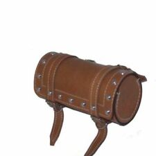 Vintage Camel Colour Leather Tool Bag Roll With Fitting BSA Norton Triumph CAD