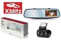 XBLITZ Fahrzeug Spiegel+Rückfahr Kamera HD Dash Cam Park View 4,3'' Bildschirm