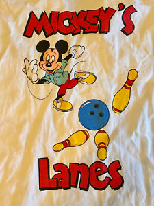Disney WDI Imagineering Exclusive Mickey Bowling Shirt Size XL Great graphic