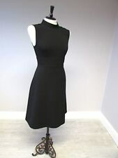 PHASE EIGHT COLLAR DETAIL  FIT AND FLARE DRESS - SIZE 10 -  BLACK