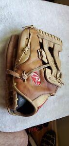 Rawlings 12.5 Leather Baseball Glove LEFT Hand Throw GGJD7BRL