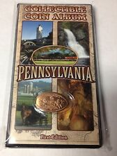 ELONGATED PRESSED SMASHED PENNY ALBUM COIN BOOK PENNSYLVANIA FIRST EDITION NEW