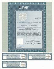 BAYER AG, Optionsscheine 1969 mit BAYER-Logo! Monsanto,Glyphosat