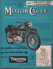The Motor Cycle May 38 1959 Triumph Thunderbird, T.T. Races 071717DBE