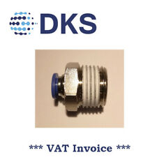Male Stud Push In Fit Pneumatic Fittings Air 1/2 BSPT to 6mm Fitting  000564