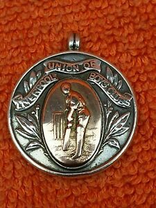 Antique Sterling Silver Hallmarked & Rose Watch Fob 1919, Cricket, Liverpool